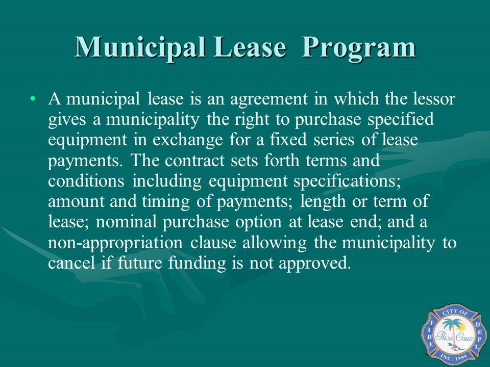 Municipal Lease Program