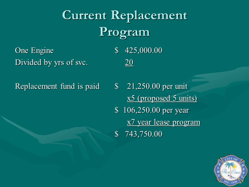 Current Replacement Program