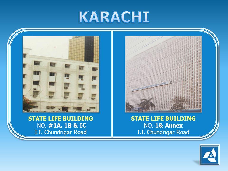 KARACHI STATE LIFE BUILDING NO. #1A, 1B & IC I.I. Chundrigar Road