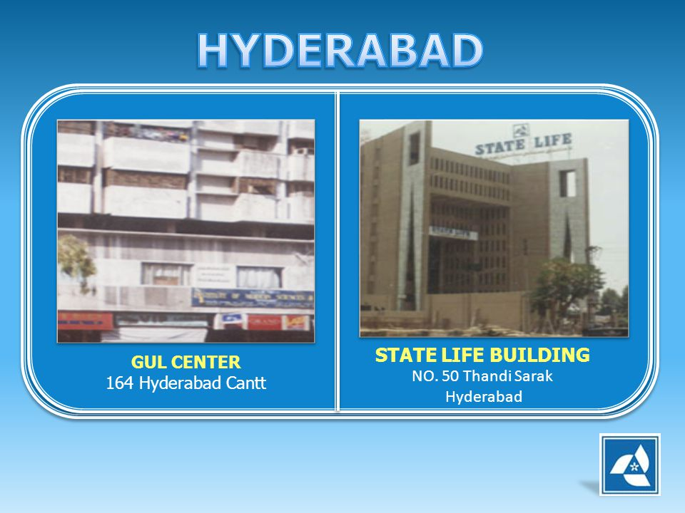 HYDERABAD STATE LIFE BUILDING GUL CENTER NO. 50 Thandi Sarak