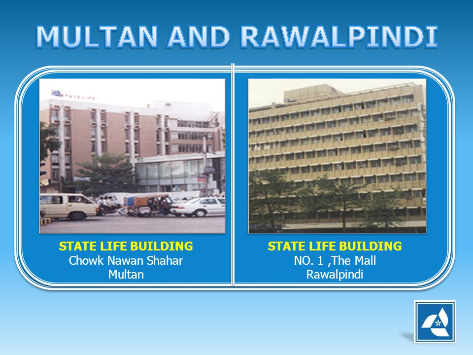 MULTAN AND RAWALPINDI STATE LIFE BUILDING Chowk Nawan Shahar Multan