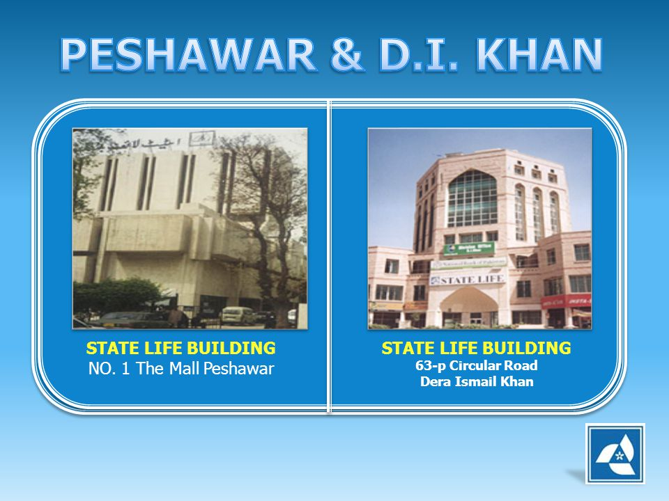 PESHAWAR & D.I. KHAN STATE LIFE BUILDING NO. 1 The Mall Peshawar