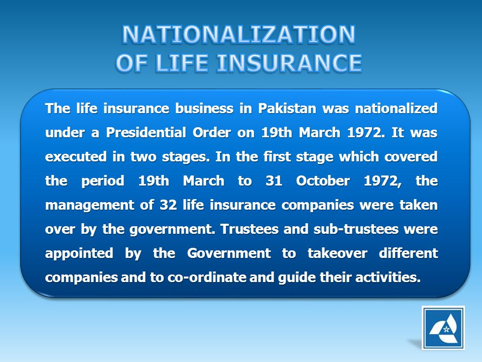 NATIONALIZATION OF LIFE INSURANCE