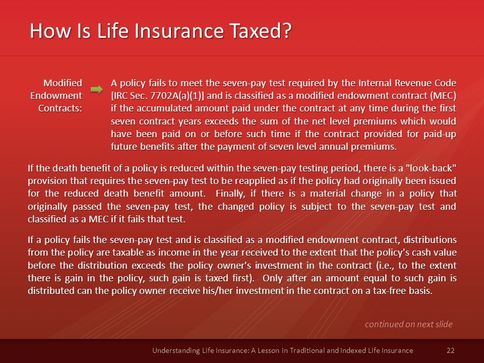 How Is Life Insurance Taxed