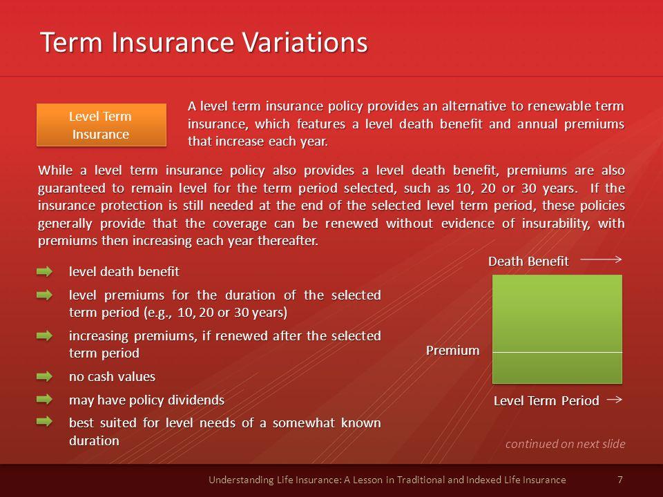 Term Insurance Variations