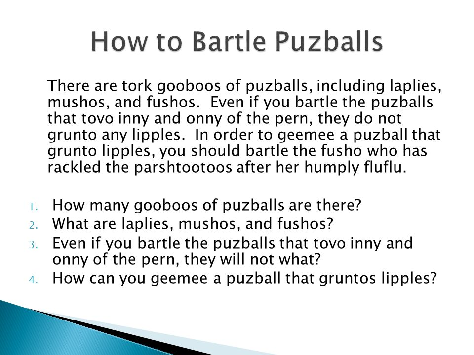 How to Bartle Puzballs