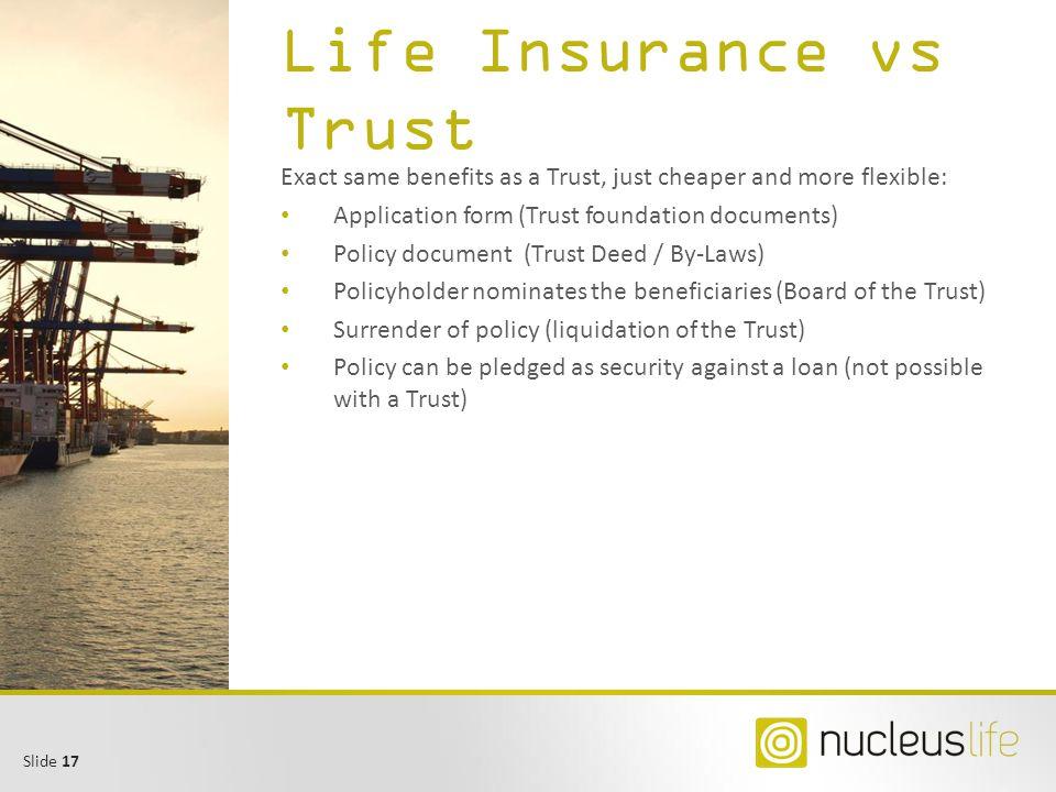 Life Insurance vs Trust