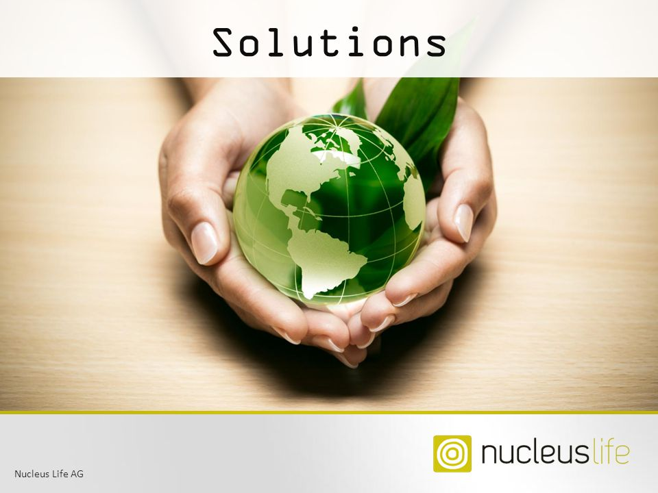 Solutions Title slide: Nucleus Life AG