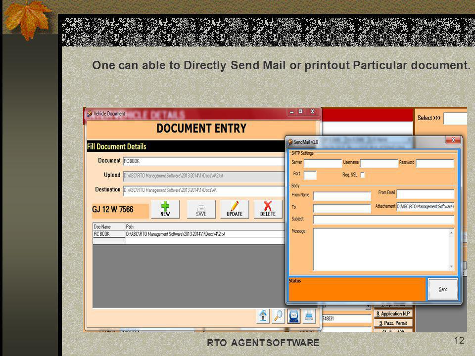 One can able to Directly Send Mail or printout Particular document.