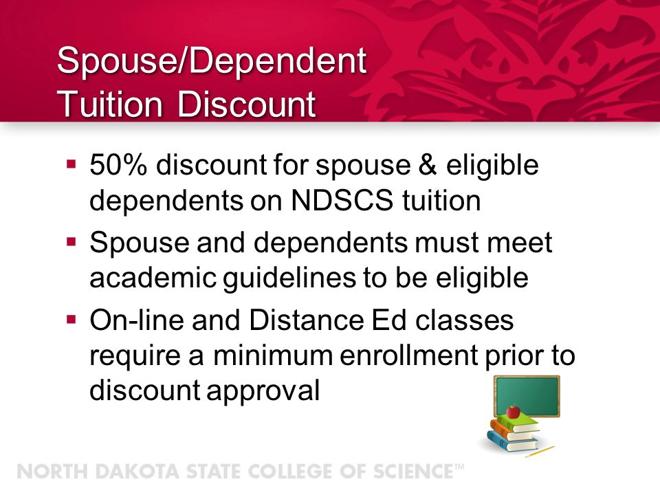 Spouse/Dependent Tuition Discount