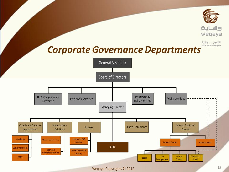 Corporate Governance Departments