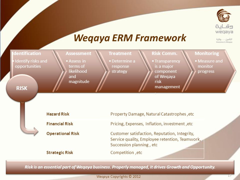 Weqaya ERM Framework RISK Identification Assessment Treatment