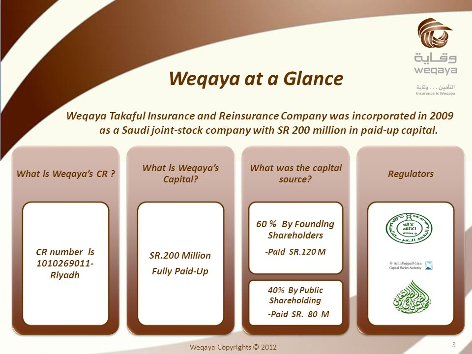 Weqaya at a Glance
