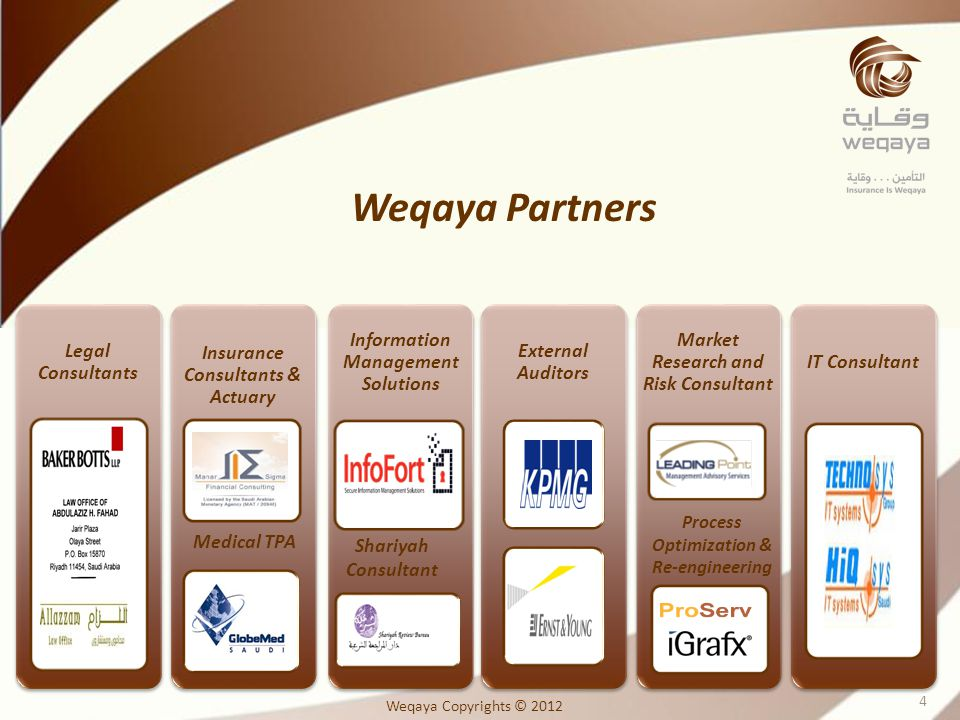 Weqaya Partners Legal Consultants Insurance Consultants & Actuary