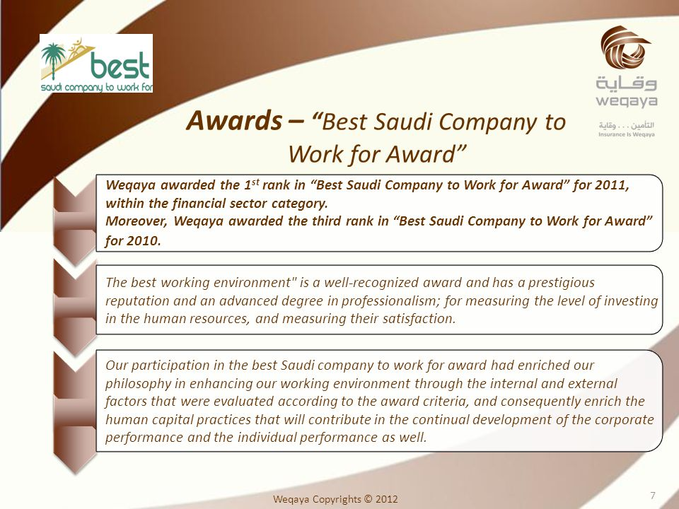 Awards – Best Saudi Company to Work for Award
