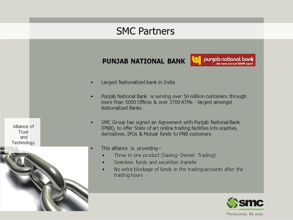 SMC Partners PUNJAB NATIONAL BANK Largest Nationalized bank in India