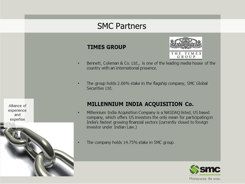SMC Partners TIMES GROUP MILLENNIUM INDIA ACQUISITION Co.