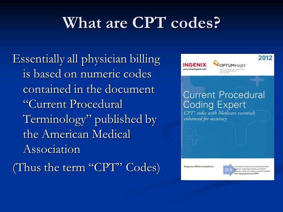 What are CPT codes