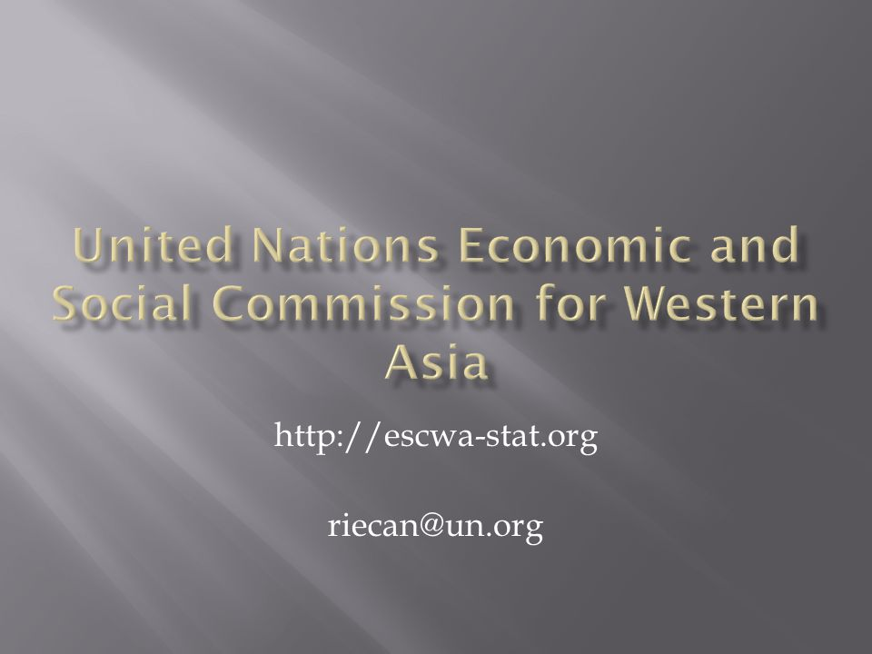 United Nations Economic and Social Commission for Western Asia
