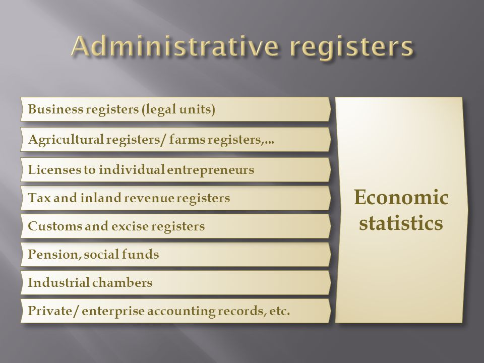 Administrative registers