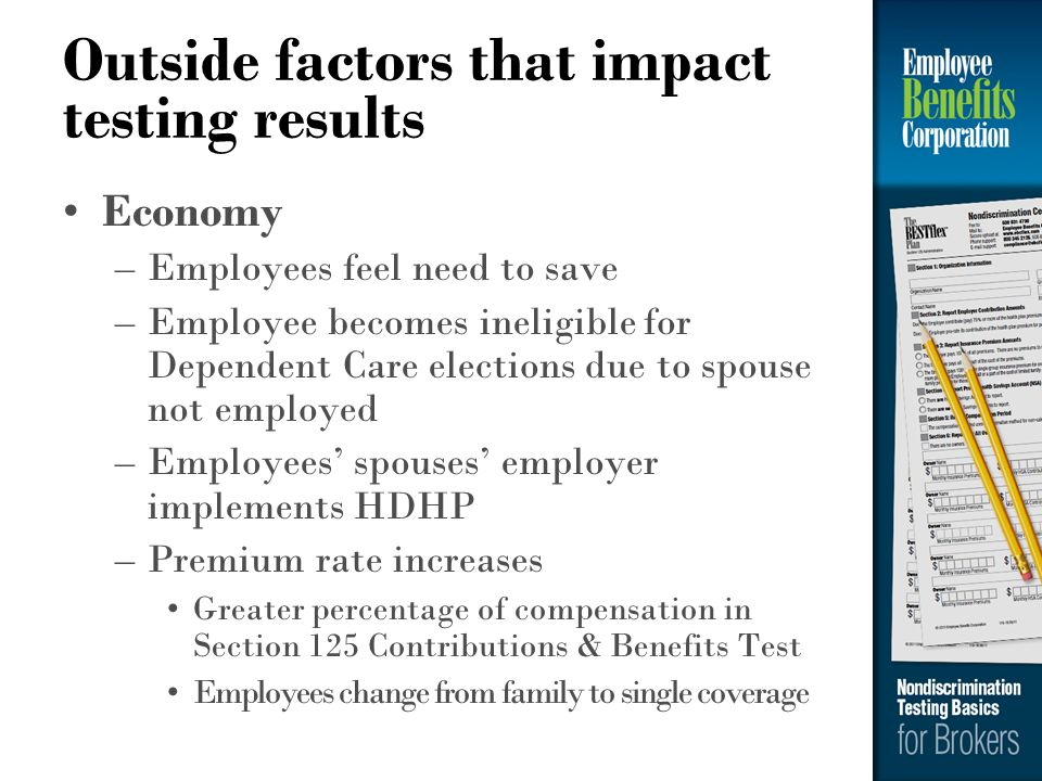 Outside factors that impact testing results