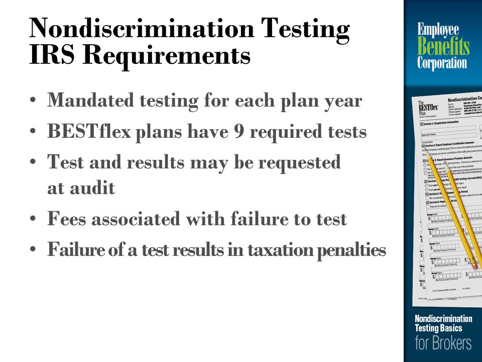 Nondiscrimination Testing IRS Requirements