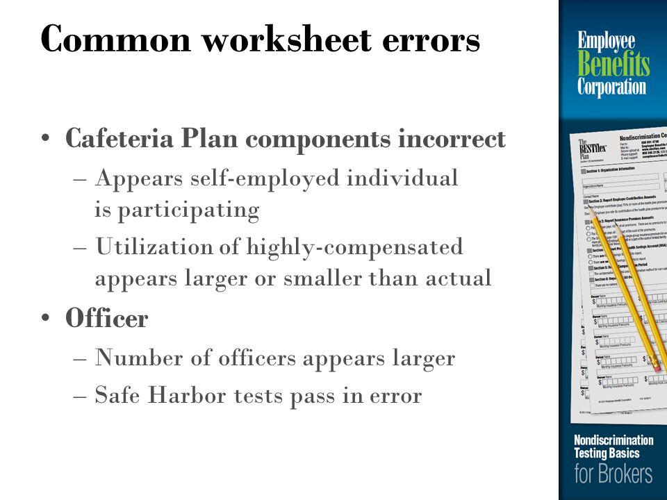 Common worksheet errors