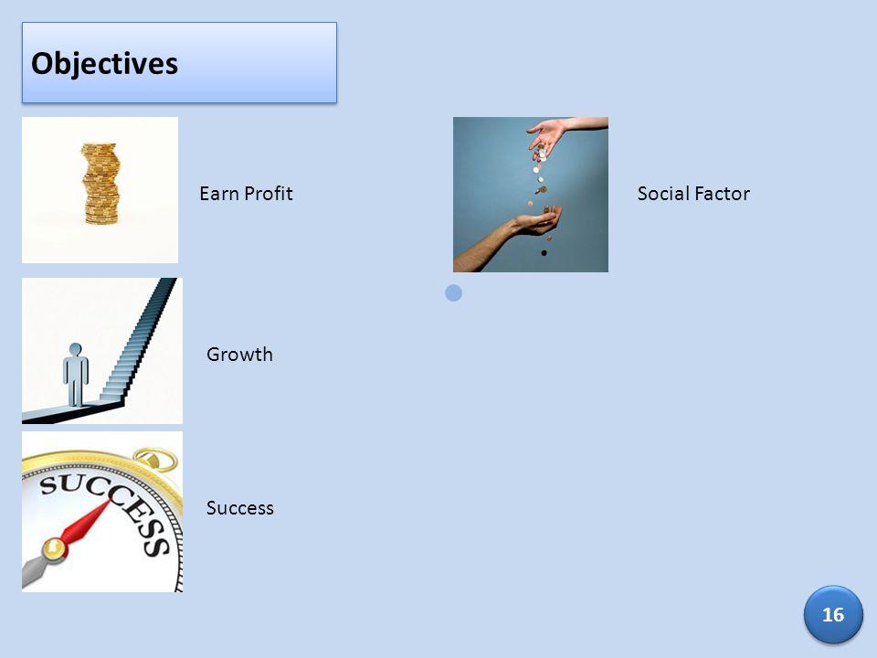 Objectives Earn Profit Social Factor Growth Success 16