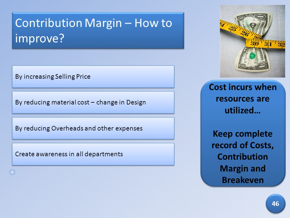 Contribution Margin – How to improve