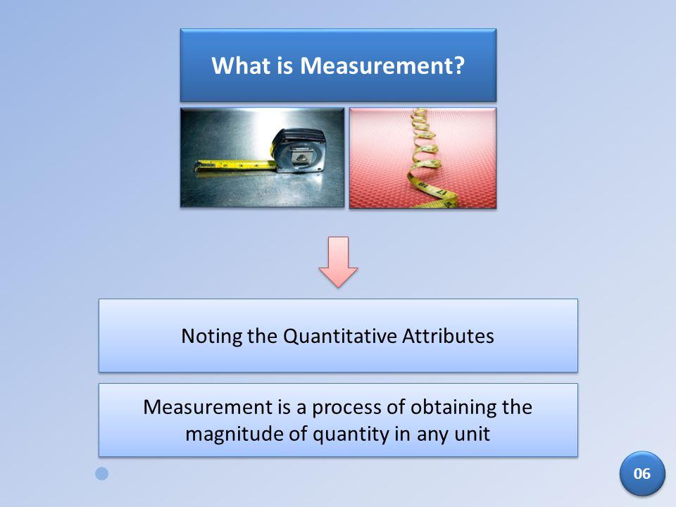 Noting the Quantitative Attributes