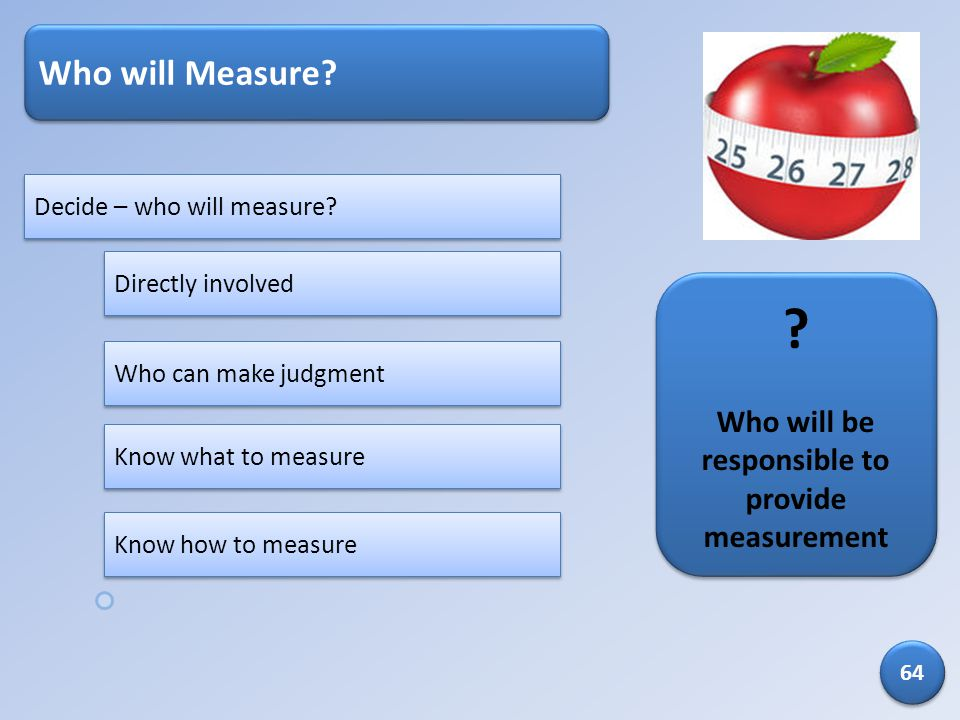 Who will be responsible to provide measurement