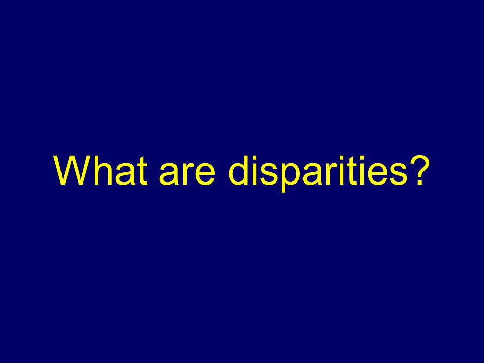 What are disparities