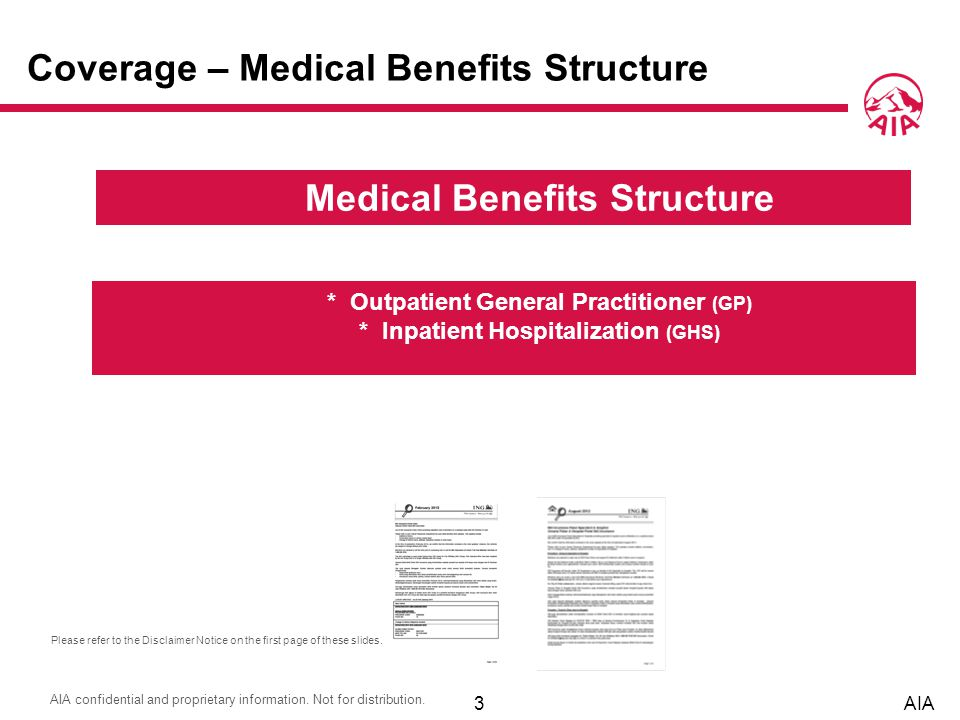 Medical Benefits Structure