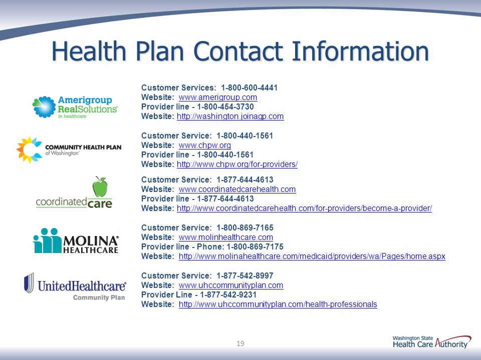 Health Plan Contact Information Customer Services: 1-800-600-4441. Website: www.amerigroup.com.