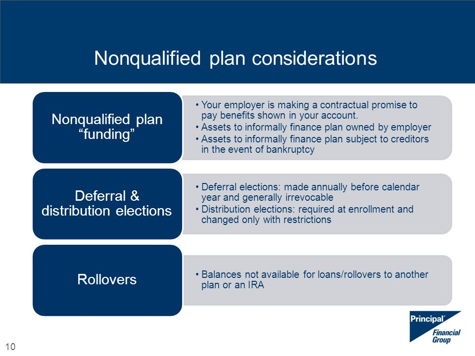 Nonqualified plan considerations