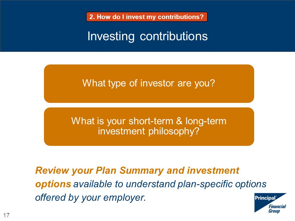 Investing contributions