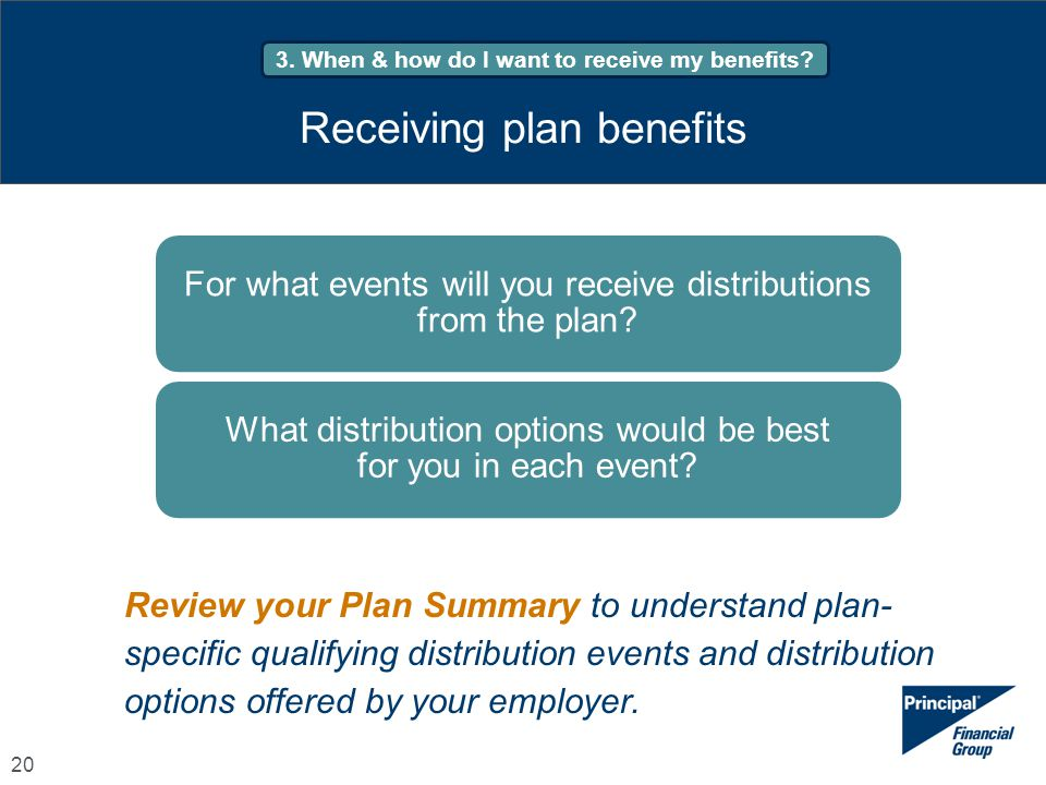 Receiving plan benefits