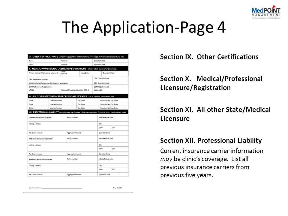 The Application-Page 4 Section IX. Other Certifications