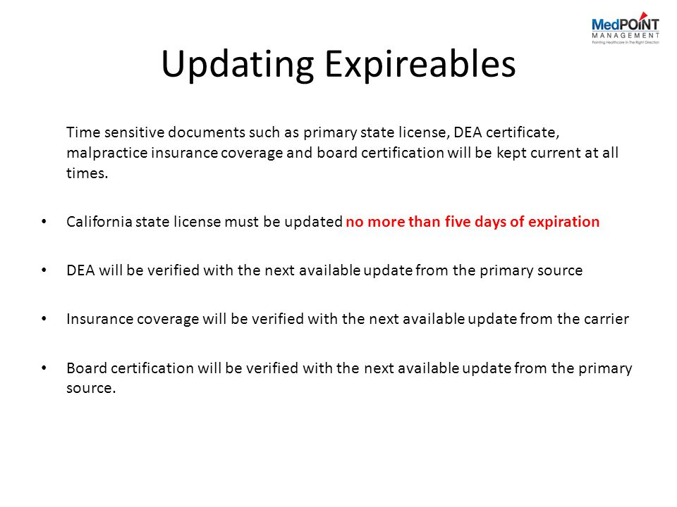 Updating Expireables
