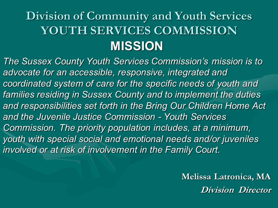 Division of Community and Youth Services Youth Services Commission