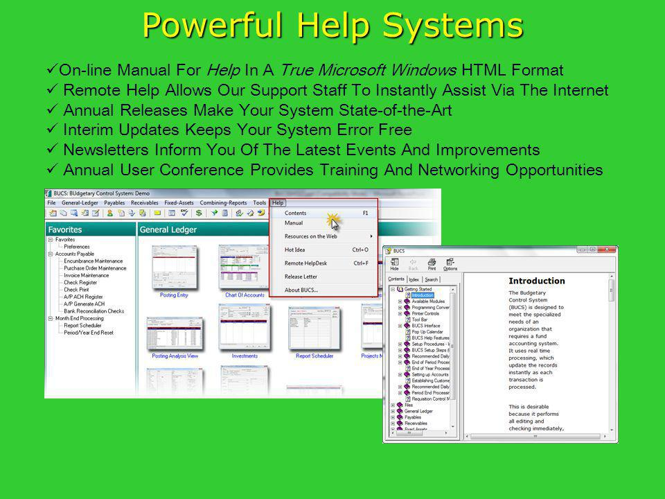 Powerful Help Systems