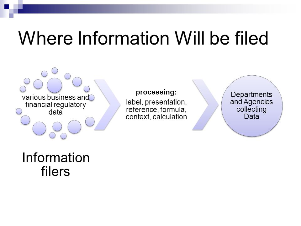 Where Information Will be filed