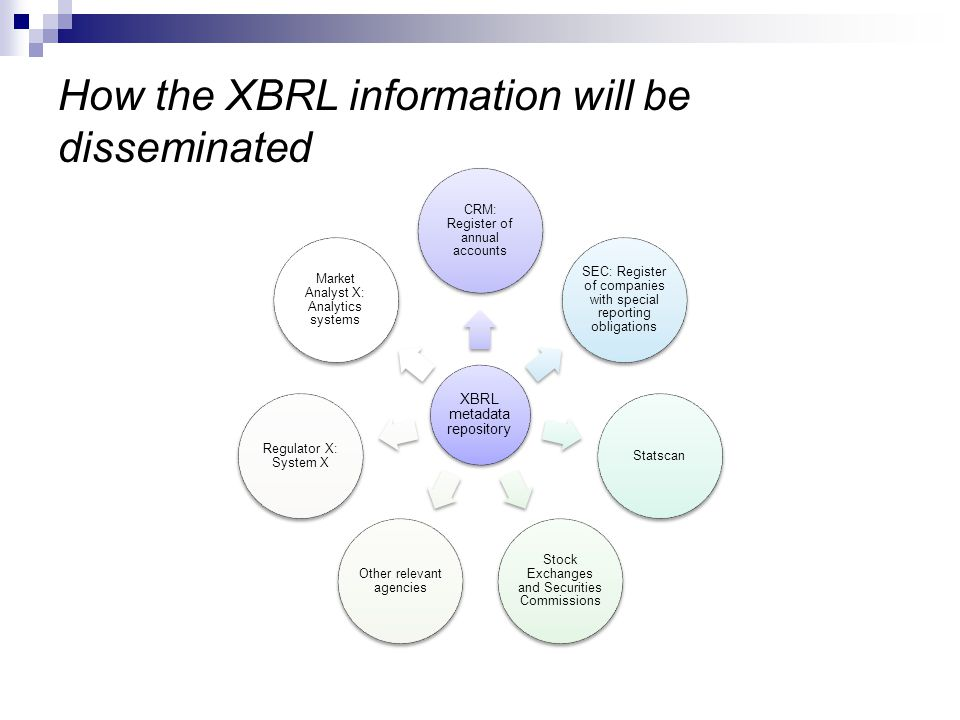 How the XBRL information will be disseminated