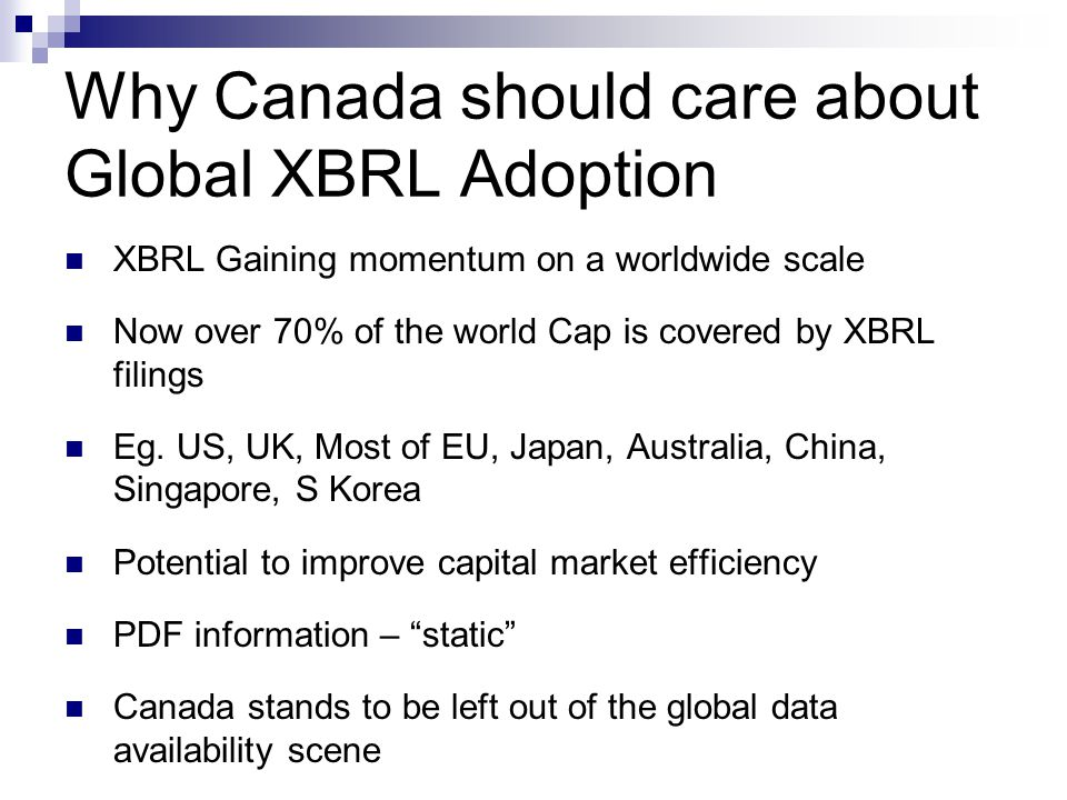 Why Canada should care about Global XBRL Adoption
