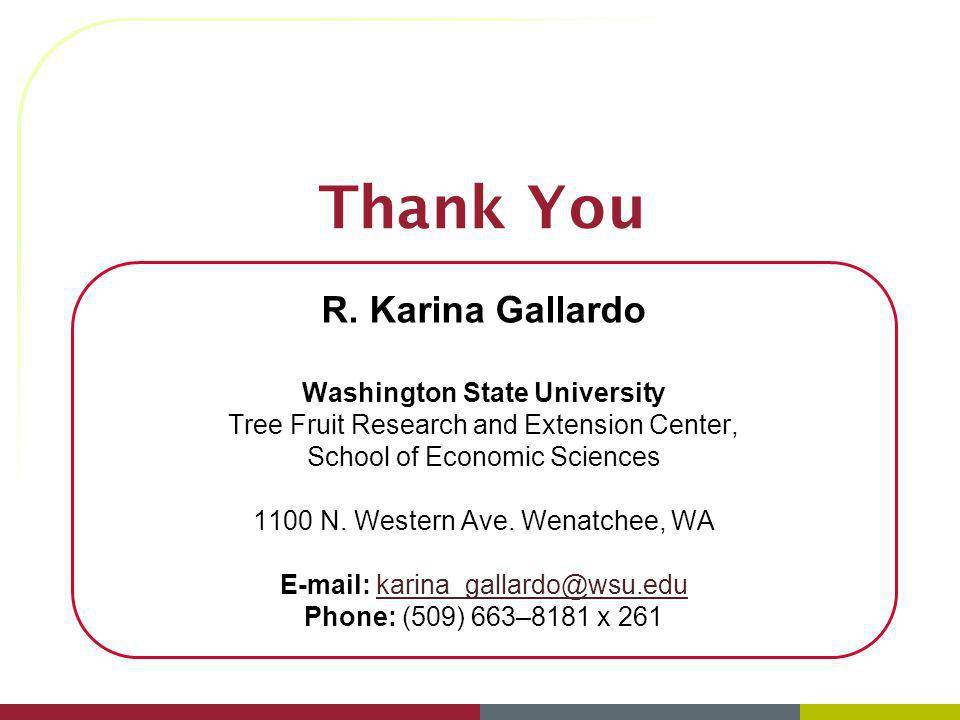 Thank You R. Karina Gallardo