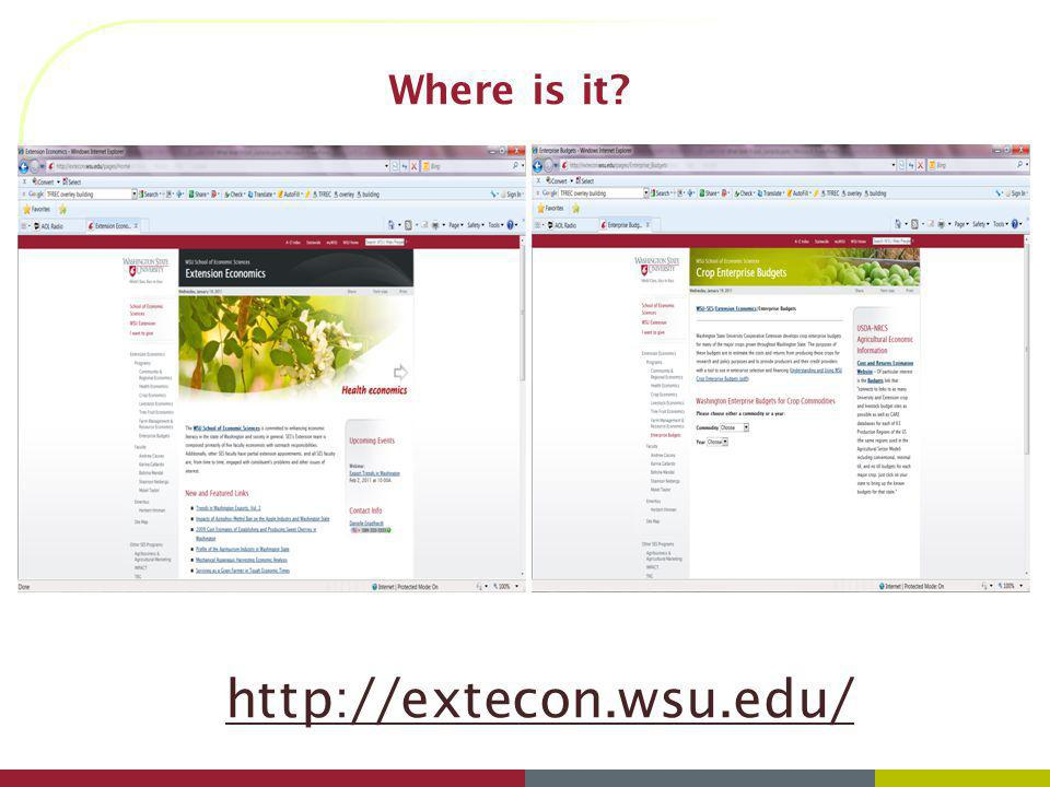 Where is it http://extecon.wsu.edu/