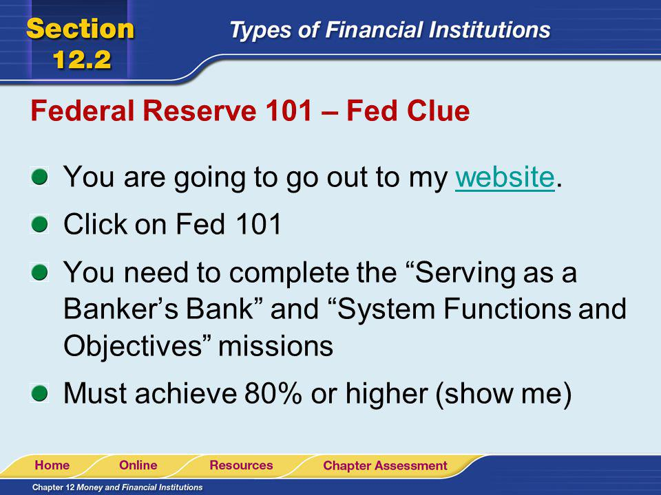 Federal Reserve 101 – Fed Clue