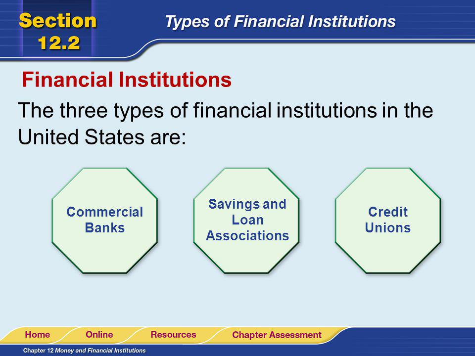types of financial institutions Financial institutions provide financial services to their clients and they are highly regulated by the government essentially, financial institutions help their clients facilitate the flow.