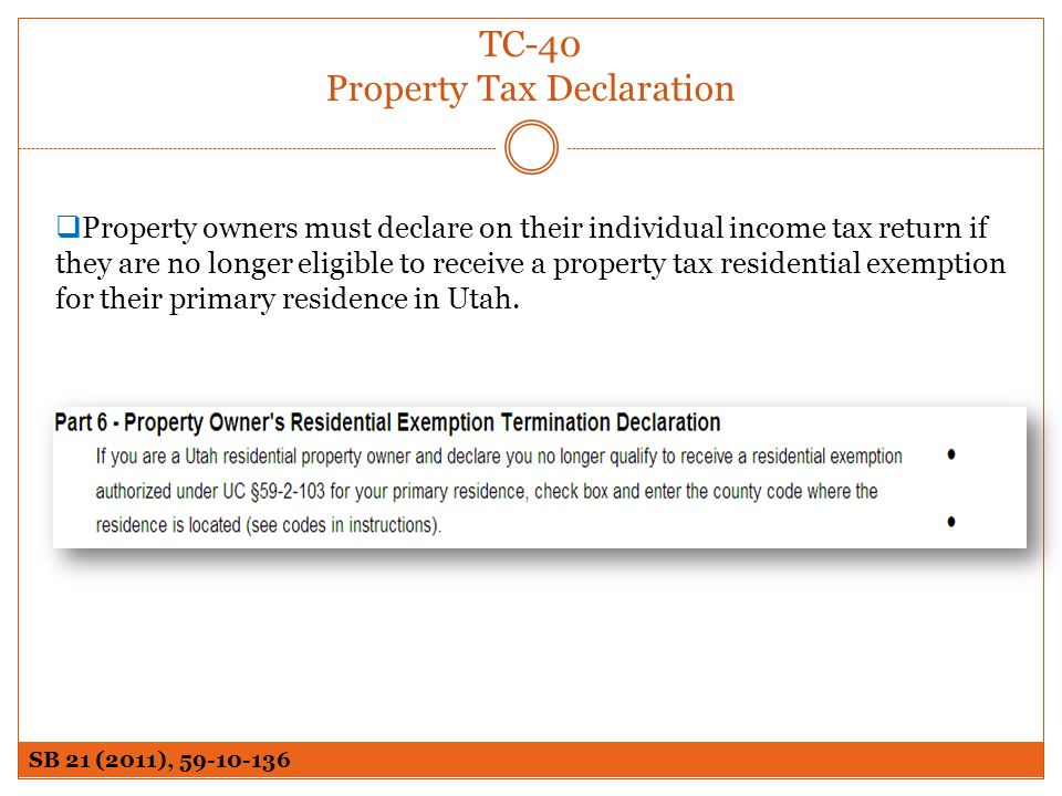 TC-40 Property Tax Declaration