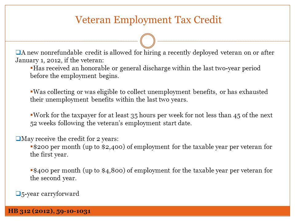 Veteran Employment Tax Credit